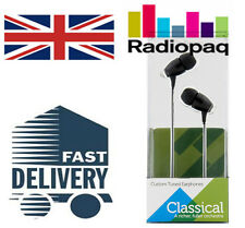 RADIOPAQ Custom Tuned Classical Music Headphone Noise Cancelling iPod iPad *New