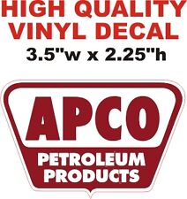 Vintage Style APCO Petroleum Products Pump Decal The Best or 100% Refund!