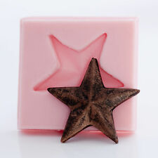 Fondant Mold - western star mold - polymer clay mold - chocolate mold  (917)