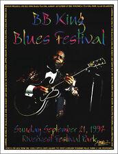 B. B. King & Robert Cray J Geils 1997 Original Signed Tulsa Concert Poster