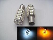 2 pcs 1157 120 SMD LED Switch Back Dual colors 80pcs Amber  40pcs White LED