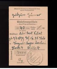 1941 Germany Donau Concentration Camp money order Receipt kz