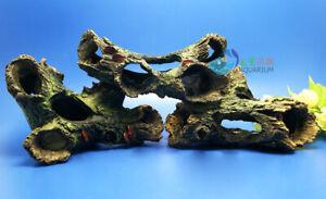 3Pcs Aquarium Decoration Trunk hole Driftwood for fish Tank Resin Ornaments