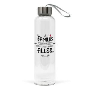 PPD Familie ist alles 550 ml Flasche Glas Design Trinkflasche Wasserflasche