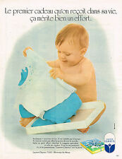 PUBLICITE ADVERTISING 035  1973  CLAYEUX  vetements bébé layette