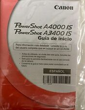 Canon PowerShot A4000 IS A3400 IS Guide Guia de Inicio Espanol Spanish