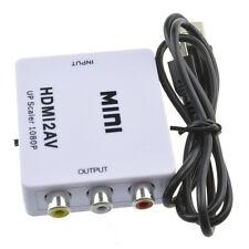 Mini Composite 1080P HDMI to RCA Audio Video AV CVBS Adapter Converter For HDTV