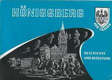 Königsberg Geschichte Bedeutung 1255-1955  Jubiläumsgabe Partnerstadt Duisburg