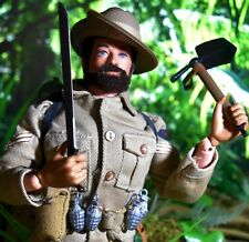 "☆ VAM palitoy Action Man ☆ sotw Australian jungle fighter 12"" figure c1966-69 ☆"