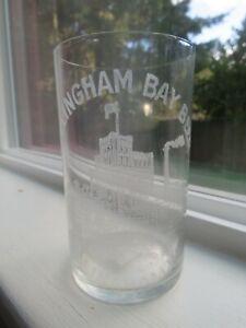 1903 Pre Prohibition Acid Etched Beer Glass - Bellingham Bay Beer Wash Excellent