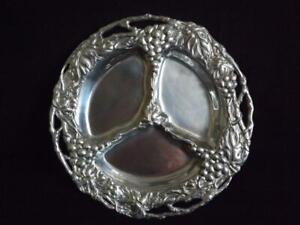 """Arthur Court Grapes & Leaves Divided Plate Platter 14"""" 2001"""