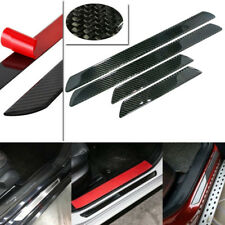 4pcs 48CM+25CM Carbon Fiber Car Scuff Plate Door Sill Cover Panel Step Protector