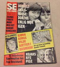 BJORN BORG TENNIS PLAYER FLIRT MODEL DENMARK COVER VINTAGE Danish Magazine 1976