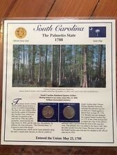 South Carolina Statehood Quarters - Postal Commemorative Society P&D with stamps