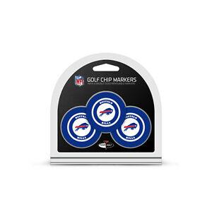 NFL Buffalo Bills 3 Pack Golf Ball Markers Poker Chip Enamel Team