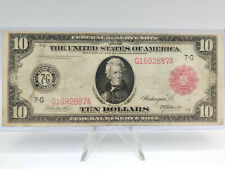 1914 $10 Ten Dollar RED SEAL Federal Reserve Note **NICE GRADE! QUITE SCARCE!**