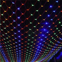 LED String Fairy Light Net Mesh Curtain Xmas Wedding Party Decor Indoor Outdoor