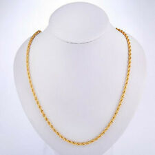 10PCS 4MM Fashion jewelry 18K Gold Filled Double Water wave Necklaces Chains