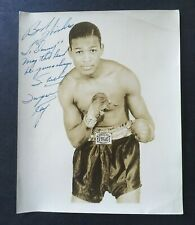 Sugar Ray (Robinson) Signed 8x10 Boxing B&W Photo Autographed & Inscribed