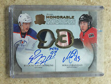 11-12 UD The Cup Dual Honorable Numbers RYAN NUGENT-HOPKINS / MIKA ZIBANEJAD /93