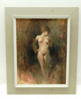 Great oil on canvas, nude by listed American artist Stewart Ashlee