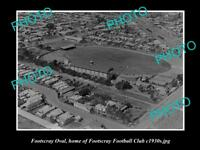 OLD LARGE HISTORICAL PHOTO OF THE WESTERN OVAL FOOTSCRAY FC HOME GROUND c1930s