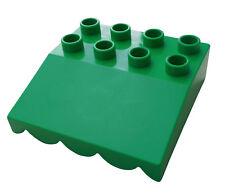 Lego Duplo 8 Piece Light Green Awning Roof Bricks Bright House New
