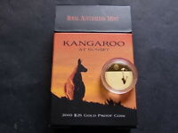 AUSTRALIA. 2010 25 Dollars - Kangaroo at Sunset - 1/5oz Gold.. Proof..  # 000041