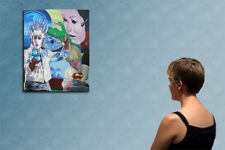 """39"""" - THE MAGIC BALL   - original  painting oil on canvas by ANNA !!!"""