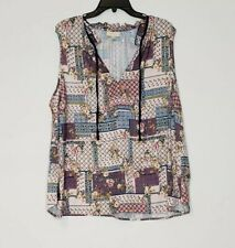 Mod Cloth Womens Size 4X Tank Top Patchwork Style Floral Top