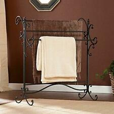 Southern Enterprises Scroll 3 Blanket Rack - Store Quilts, Comforters,.