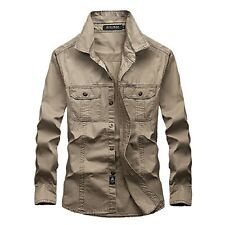 Men's Military Army Security Tactical Work Shirt Long Sleeve Casual Dress Shirts