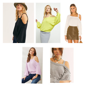 New Free People Flaunt It T Tee Shirt Sweater Top Various Colours Size XS