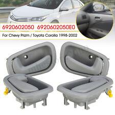 4x Interior Inner Door Handle For Toyota Corolla Geo Prizm 1998-2002 6920602050