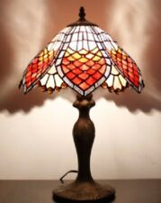 Tiffany Style Table Lamp Art Bedside Handcrafted Lamps Desk Light Stained Glass