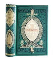 The Poetical Works of Sir Walter Scott Antique Ornate Victorian Angel Cover