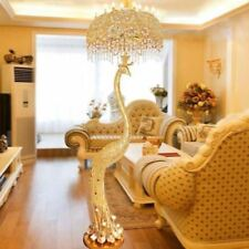 Remote Control LED Floor Lamp Gold Peacock LED Crystal Living Room Bedroom lamp