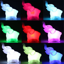 Color ChangingNight Light Lamp Stick Wall light Lamp lively Cute Elephant LED