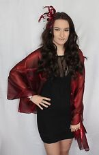 Burgundy Wine Large Organza ball wrap Shawl Stole Evening Scarf Diner Dance