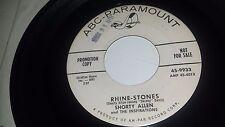 "SHORTY ALLEN THE INSPIRATIONS Rhine Stones / Ya Ya Wunderbar ABC PARAMOUNT 45 7"""
