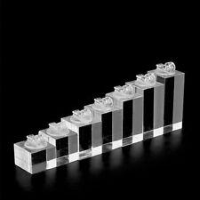 4f8b5bbcaa34 Bottom Clear Organizer Plexiglass Finger Ring Display Stand Holder Jewelry