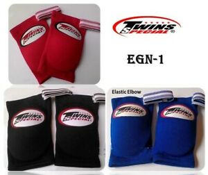 TWINS ELASTIC ELBOW PADS GUARDS ENG-1 MUAY THAI KICK BOXING MMA FREE SHIPPING