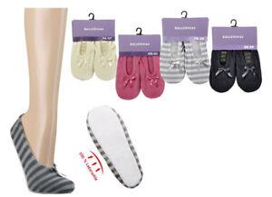 Hausballerinas Hausschuhe Ballerinas mit Ledersohle für Damen Mädchen