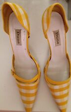 Dune Funky Chequered Winklepickers/pointy Shoes/stilettos Sz 6.5