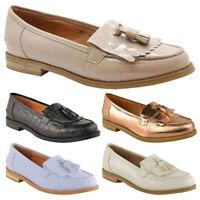 Ladies Casual Loafers Women Flat Borgues School Office Pumps Tassel Fringe Shoes