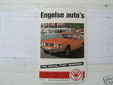 30-ENGLISH CARS 0 FRONT CARD TRIUMPH STAG ? KWARTET KAART, QUARTETT CARD,