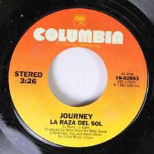 Rock 45 Journey - La Raza Del Sol / Still They Ride On Columbia 6