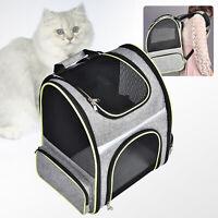 Pet Cat Dog Backpack Double Shoulder Mesh Bag Breathable Side door Portable Bag