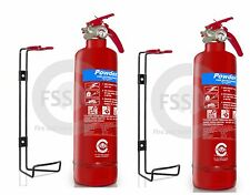 BSi  2 x 1 KG DRY ABC POWDER FIRE EXTINGUISHER HOME OFFICE CAR KITCHEN