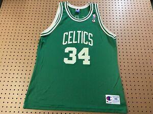 MENS 48 - Vtg NBA Boston Celtics #34 Paul Pierce Champion Printed Jersey